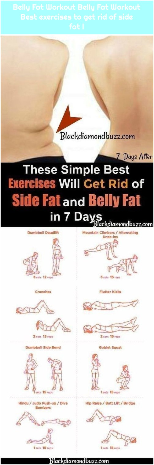 Belly Fat Workout Belly Fat Workout Best exercises to get rid of side fat l